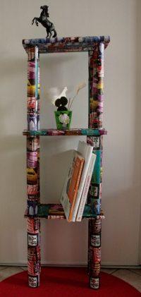 """Comment créer un cadre """"4 saisons"""" avec des branches et un rouleau de papier toilette ?"""